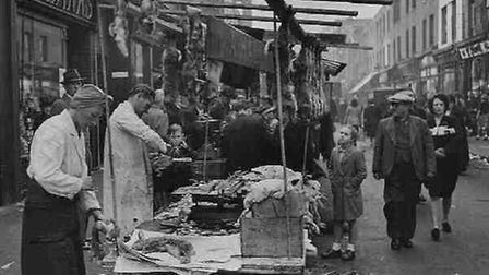 Hoxton Market in 1949. Picture: Hackney Archives