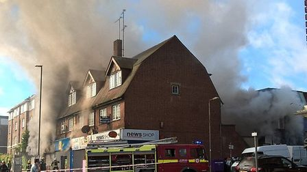 The fire at Kay's kosher supermarket lasted almost all day. Photo: London Fire Brigade.