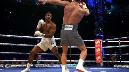 Anthony Joshua (left) stopped Wladimir Klitschko in the 11th round in April (pic: Nick Potts/PA Imag