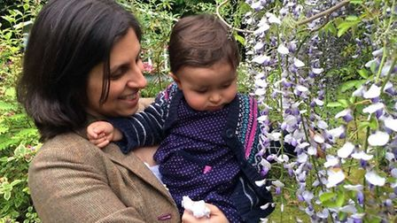 Nazanin with her daughter Gabriella, who has just turned three.