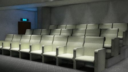 An artist's impression of what the new basement screen at the Rio could look like. Images used court