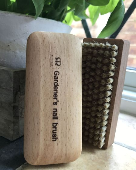 The Gardener's nail brush, available from Oxford Brush Company