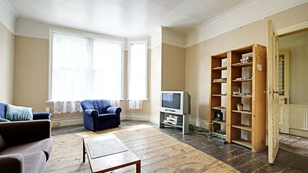 With high ceilings and stripped back original, untreated wooden floors, the period home could make a