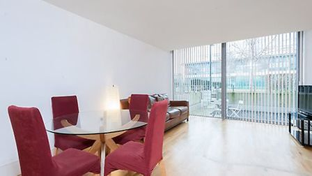 A two bedroom, two bathroom flat in Highbury Stadium Square is on the market with Portico for £500 a