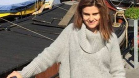 Jo Cox photographed by husband Brendan at their houseboat in Wapping before she was killed