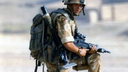 Adam Ward during his time in the Armed Forces, Photo courtesy of Adam Ward,