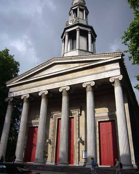 The St Pancras Church has suffered damage due to pollution from the busy Euston Road which surrounds