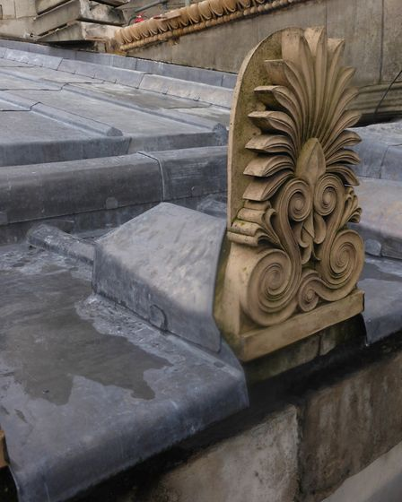 Extensive repairs were carried out to the roof, parapet and terracotta at St Pancras Church