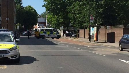 The incident happened at about 3.10pm this afternoon. Picture: NATHALIE RAFFRAY
