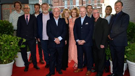 The cast of Hampstead - Will Smith, director Joel Hopkins, Jason Watkins, Phil Davis, Rosalind Ayres