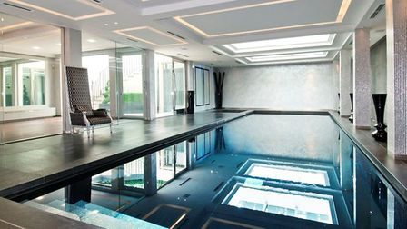 Float like a butterfly in the indoor swimming pool...