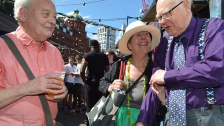 Former teachers Roger Harris and Rosemary Phelps, and former head Brian Gable. Picture: Polly Hancoc