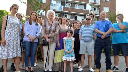 Residents and leaseholders on the Parkside Estate. Picture: Polly Hancock