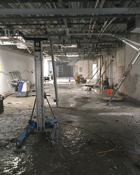 The changing rooms are also being renovated.