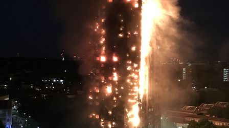 The blaze at Grenfell Tower in west London. The same ACM cladding that was on that building has been