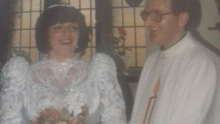 Maddie and father Eugene Fitzpatrick on her wedding day.