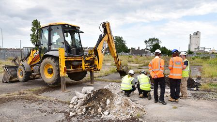 Investigation work taking place for the Lake Lothing Third Crossing. Picture: Nick Butcher.