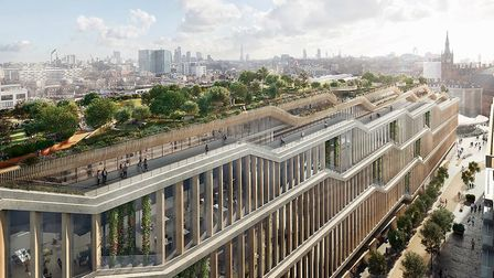 The new building will feature roof gardens with a running trail, called the 'trim track'. Picture: H