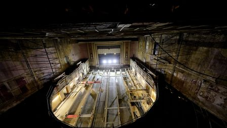 More of Alexandra Palace's past has come to light during works to pour a concrete floor at its theat