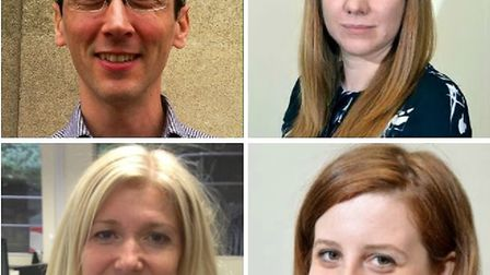 Clockwise from top left, Jon King, Emma Youle, Anna Behrmann and Emily Banks