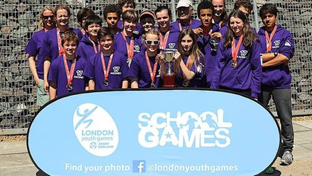 Hackney celebrate winning the rowing competition at the London Youth Games (pic LYG)