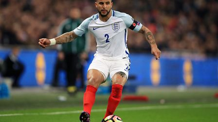 England's Kyle Walker in action against Scotland in their World Cup qualifying match at Wembley Stad