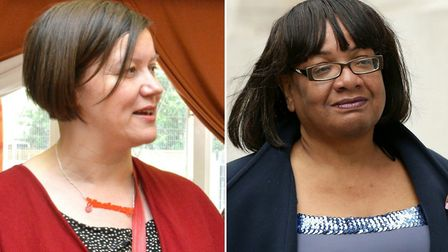 Incumbents Meg Hillier and Diane Abbott (both Lab). Pictures: Polly Hancock/PA