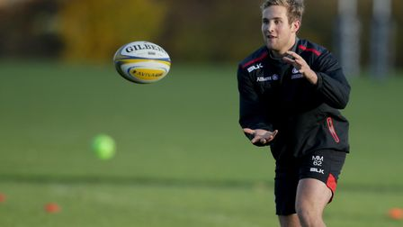 Max Malins in training with Saracens. Pic: Matthew Impey/Wired Photos Picture