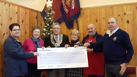 The Edward and Ivy Rose Hood Memorial Fund and Cllr Frank Mortimer, Chairman of Waveney District Cou