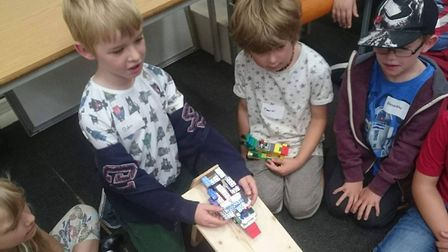 Lego Club at Beccles Library. Photo courtesy of Lego Club.