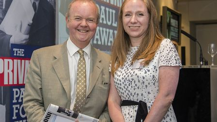 Emma Youle with Private Eye editor Ian Hislop. Picture: Philippa Gedge Photography
