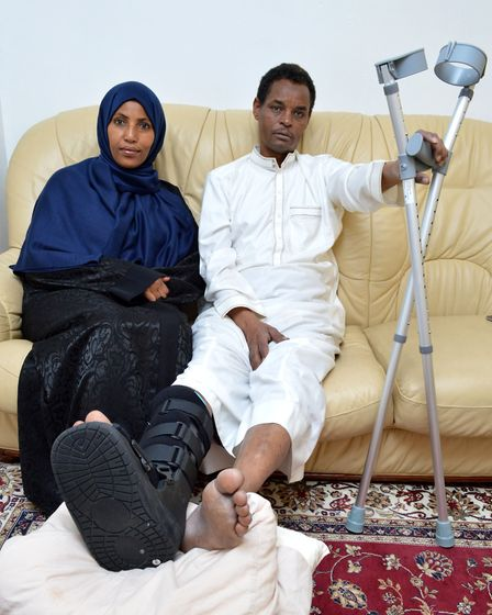 Yassin Hersi with his wife, Cllr Rakhia Ismail. Picture: Polly Hancock