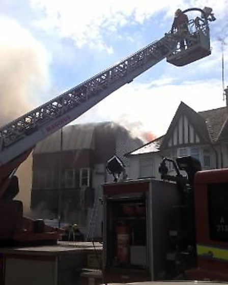 More than 95 fire brigade officers were at the scene. Photo: London Fire Brigade.