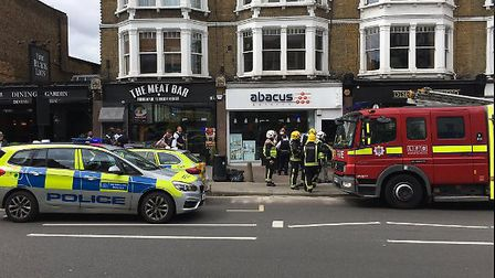 Police and the fire brigade responded to reports of a smell of chemicals. Photo: West Hampstead Life