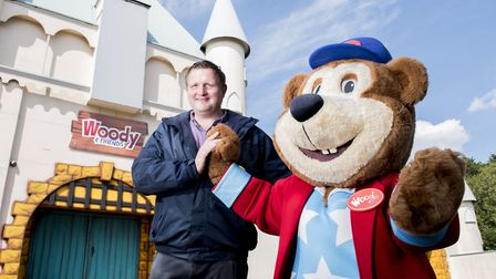 Adam Noble is the new general manager of Pleasurewood Hills theme park.Picture: Nick Butcher