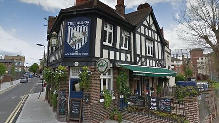 The Albion in Goldsmiths Row. Picture: Google