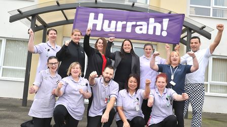Staff at Britten Court, Lowestoft, celebrate a 'Good' CQC report. Photos by Lucy Taylor Photography