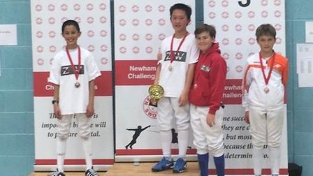 ZFW youngsters produced a clean sweep of medals at the Newham Swords Junior Challenge
