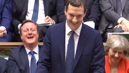 What's the difference between shrimp and stamp duty? George Osborne and David Cameron laughing in ha