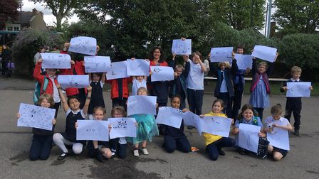 Children at St Michael's School in Highgate have also designed posters to illustrate their oppositio