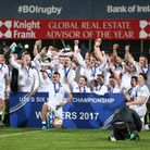 England players celebrate after winning the Under-20s Six Nations (pic Liam McBurney/PA)