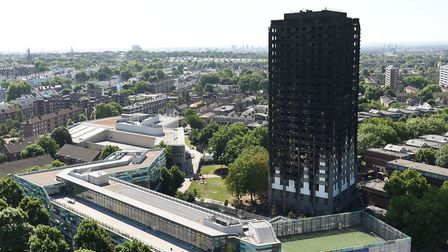 Grenfell Tower in Ladbroke Grove after a fire engulfed the 24-storey building. PICTURE: David Mirzoe