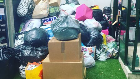FountLondon was inundated with donations for victims of the Grenfell Tower blaze. Picture: FountLond