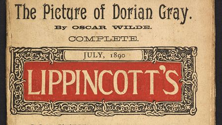Front cover of Lippincott�s Magazine publication of The Picture of Dorian Gray, Oscar Wilde�s only n