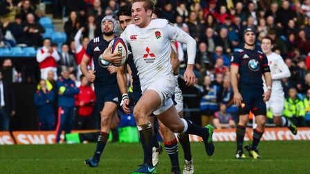 Max Malins in action for England during this year's Under-20 Six Nations (pic: Ben Birchall/PA Image
