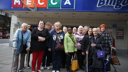 Residents protested against the closure of Mecca Bingo in Hackney Road.