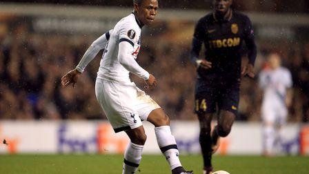 Clinton Njie in action for Tottenham Hotspur in the Europa League (pic: Nick Potts/PA Images).