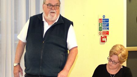 Kesssingland Parish Council chairman Liam and clerk Donna Lee. Pictures: Mick Howes
