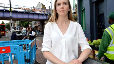 Hackney's crime chief Cllr Caroline Selman at the bottom of the Narrow Way - identified by the town