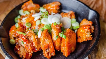 The Clifton's Korean boneless chicken wings. Picture: Nic Crilly